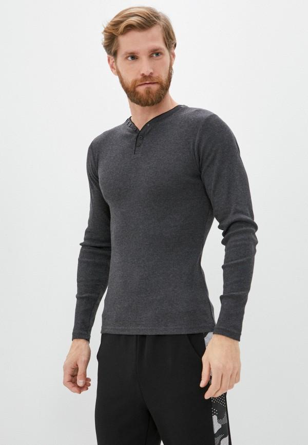мужской лонгслив backlight, серый