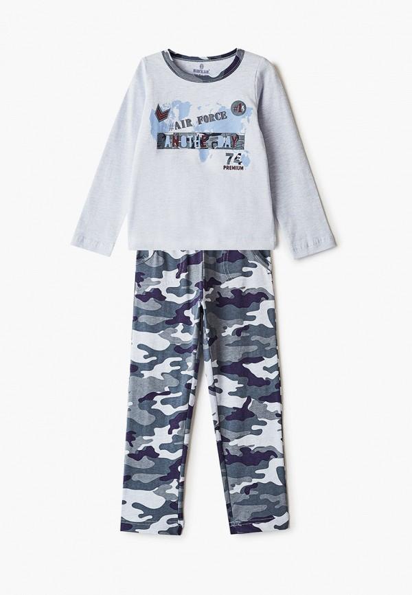 пижама baykar для мальчика, разноцветная
