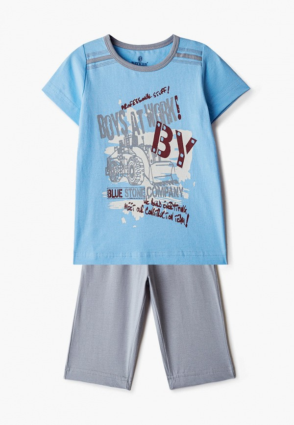 пижама baykar для мальчика, голубая