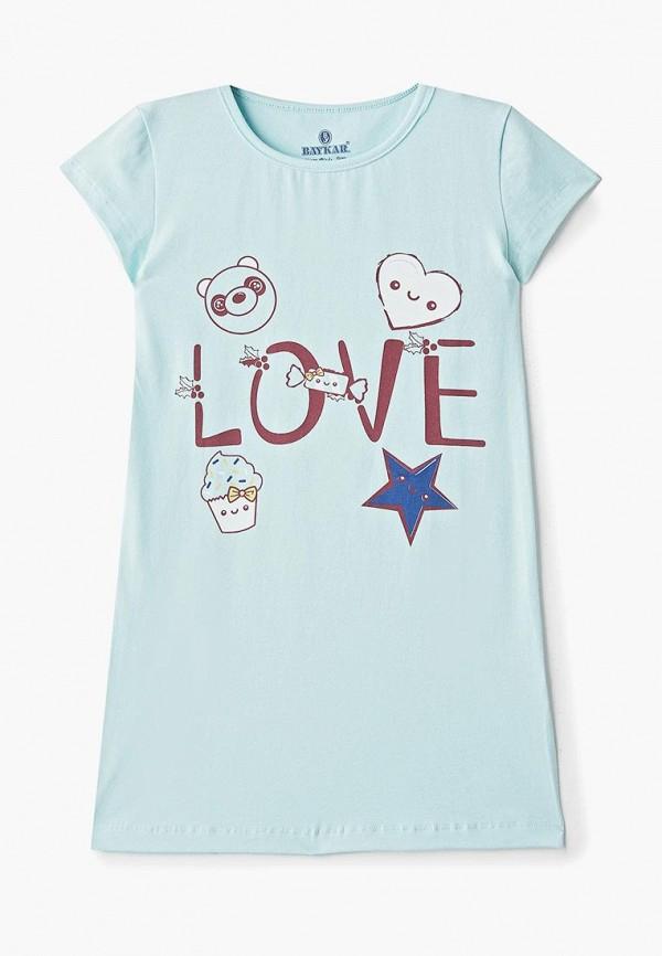 сорочка ночная baykar для девочки, голубые