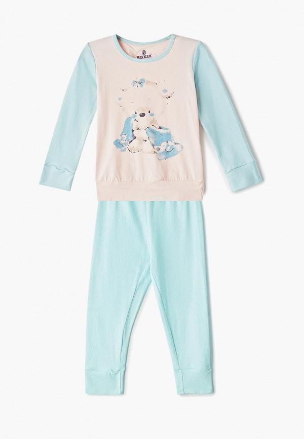 пижама baykar для девочки, разноцветная