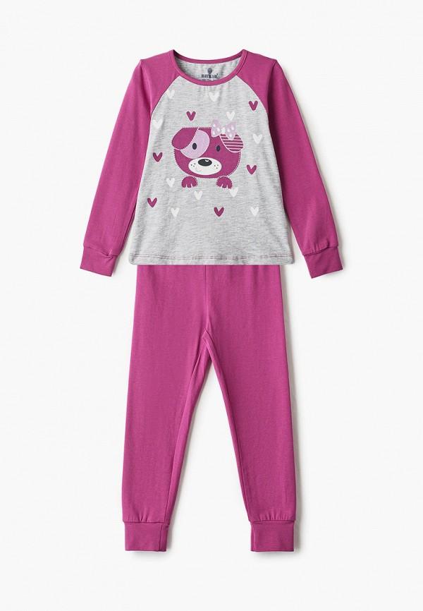 пижама baykar для девочки, фиолетовая