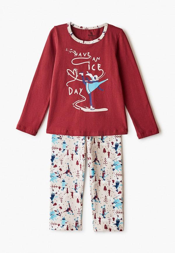 пижама baykar для девочки, бордовая