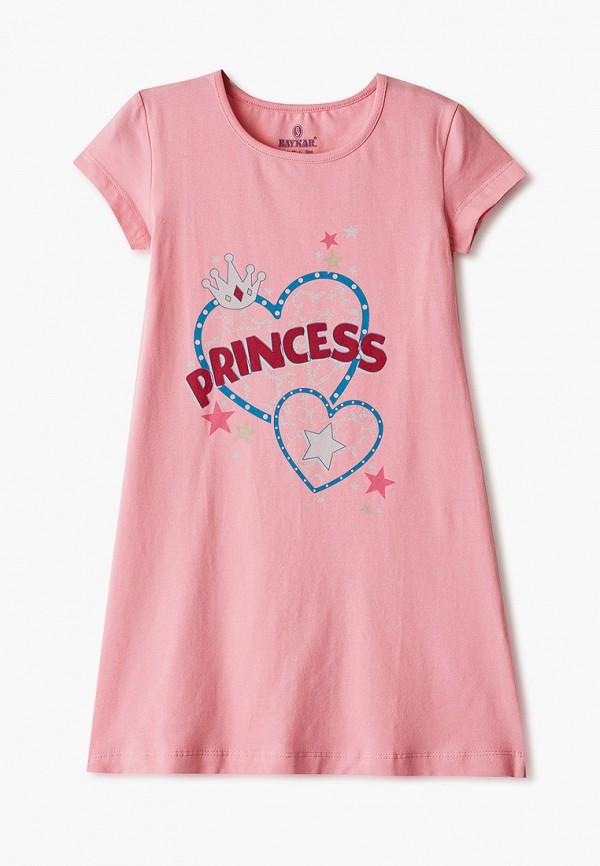 сорочка ночная baykar для девочки, розовые