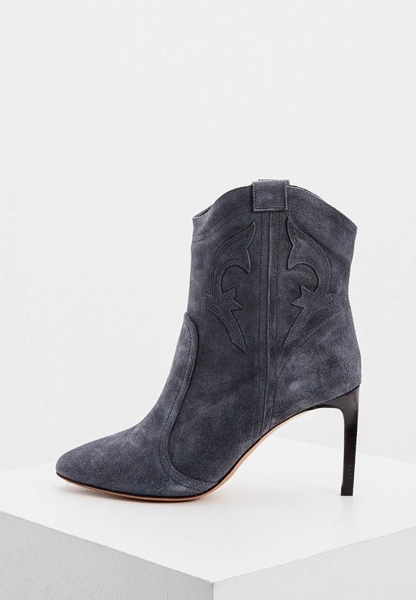 женские низкие ботинки ba&sh, серые