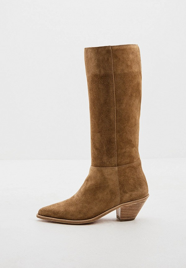 женские сапоги ba&sh, коричневые