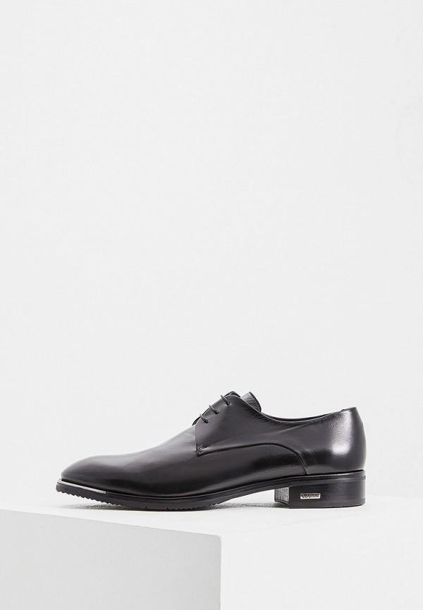 Фото - мужские туфли Baldinini черного цвета