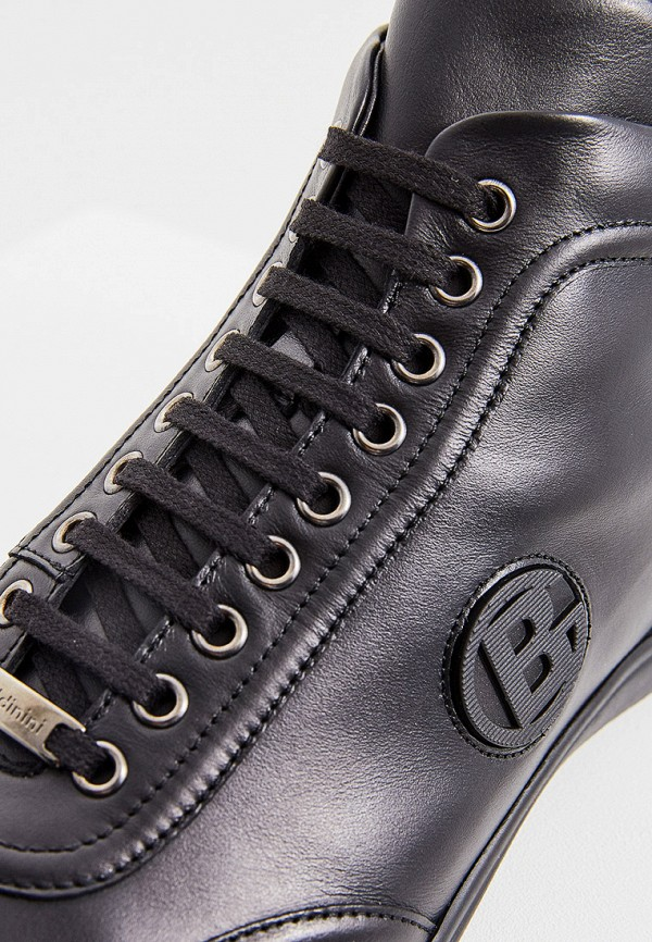Фото 5 - мужские кроссовки Baldinini черного цвета