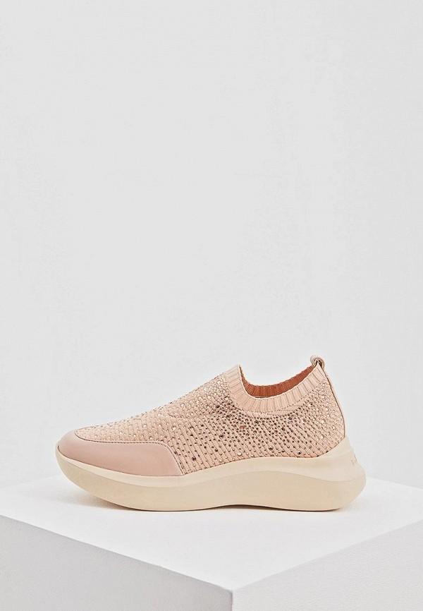 женские кроссовки baldinini, розовые