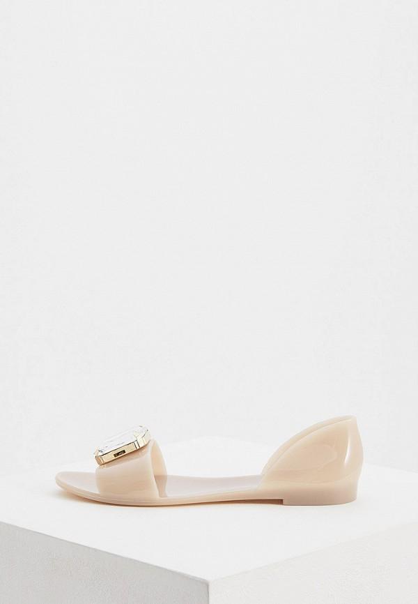 женские сандалии baldinini, бежевые