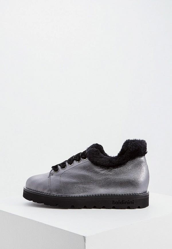 женские ботинки baldinini, серебряные