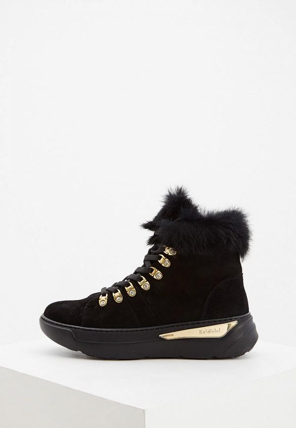 женские высокие ботинки baldinini, черные