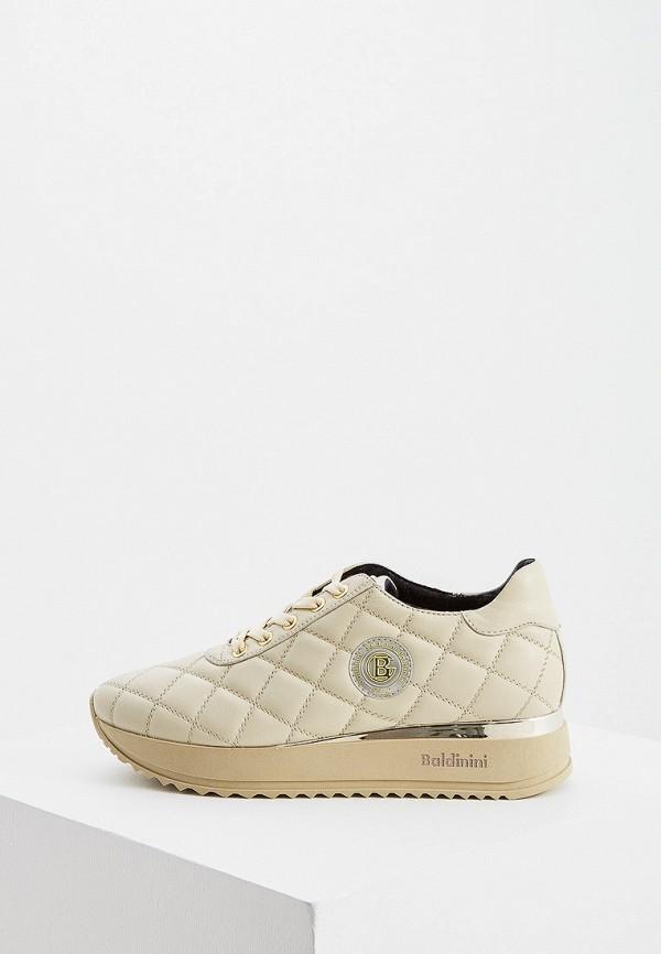 женские кроссовки baldinini, бежевые