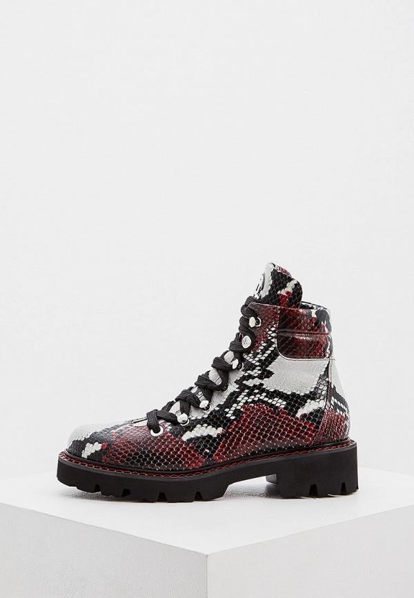 женские высокие ботинки baldinini, красные