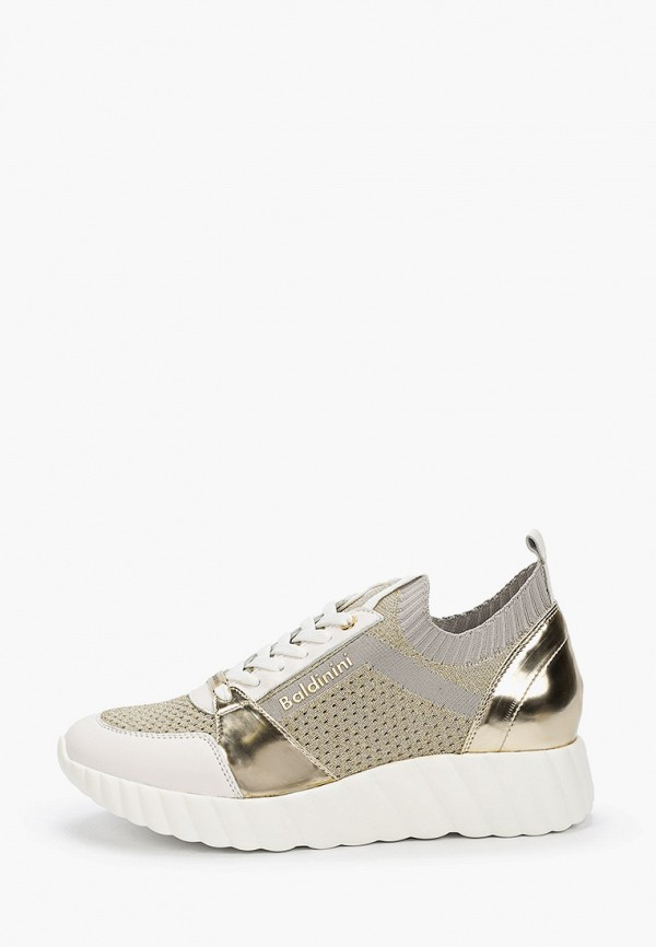 женские кроссовки baldinini, золотые