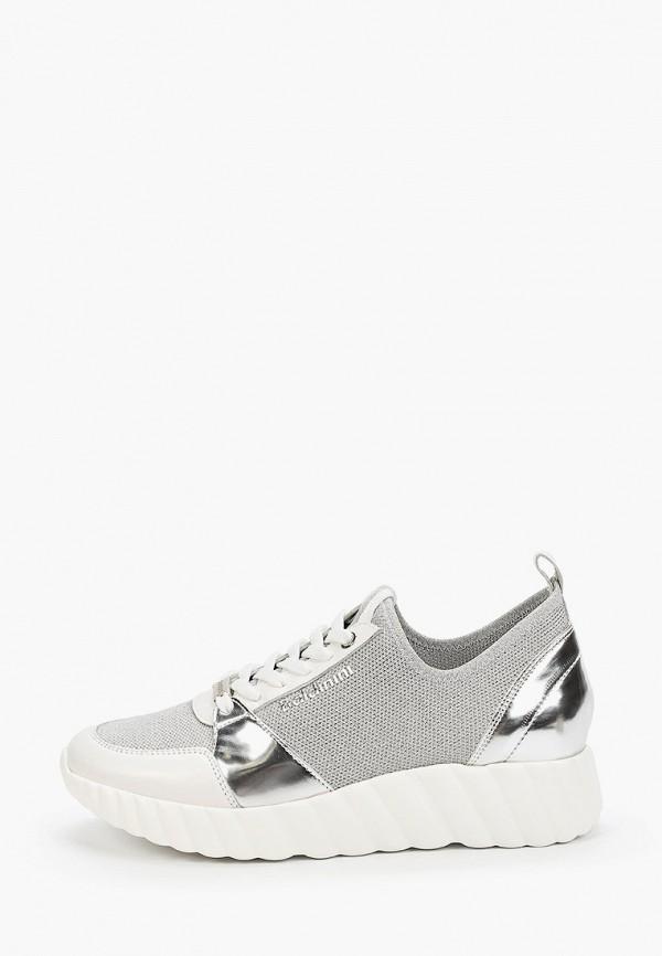 женские кроссовки baldinini, серебряные