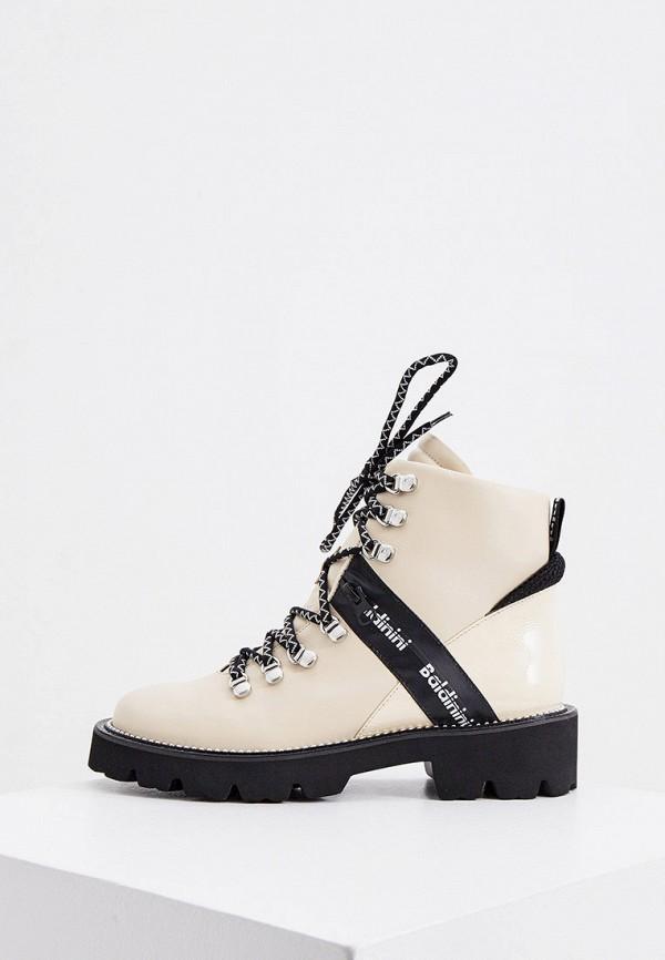женские ботинки baldinini, бежевые