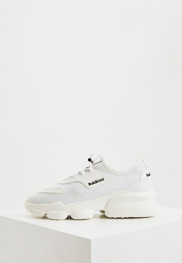 женские кроссовки baldinini, белые