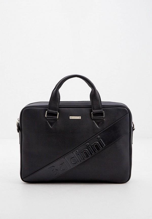 мужская сумка с ручками baldinini, черная