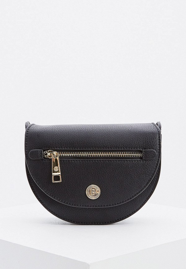 женская сумка через плечо baldinini, черная