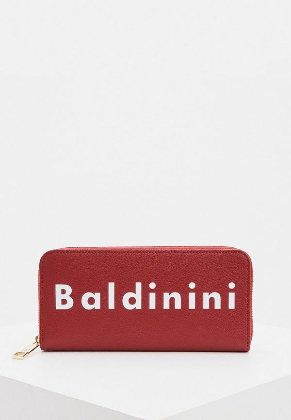женский кошелёк baldinini, красный