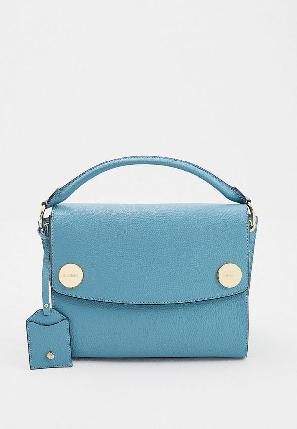 женская сумка baldinini, голубая