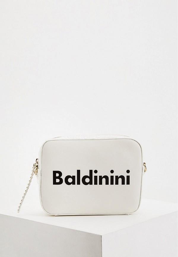 женская сумка baldinini, белая