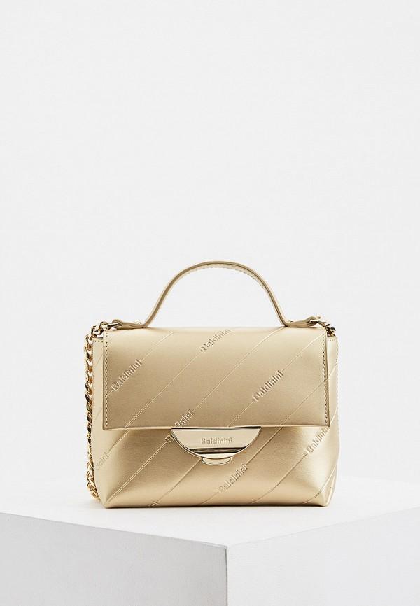 женская сумка baldinini, золотая