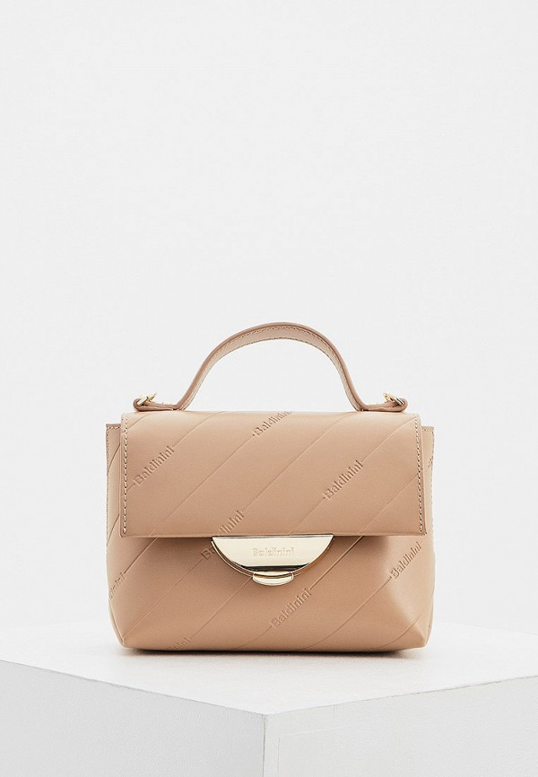 женская сумка baldinini, бежевая