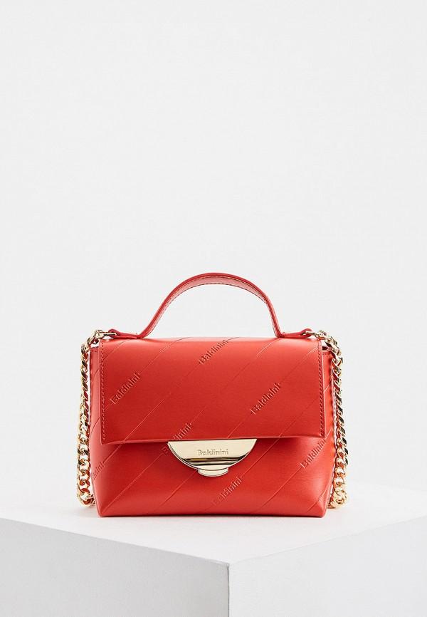 женская сумка baldinini, красная
