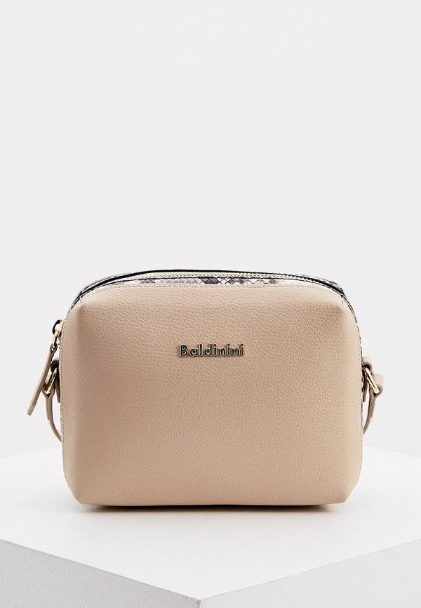 женская сумка через плечо baldinini, разноцветная