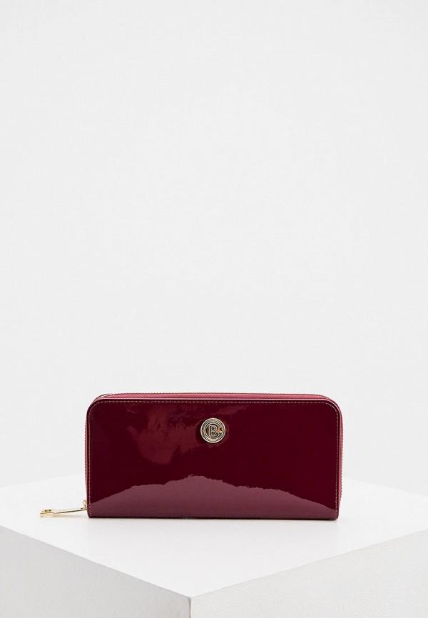женский кошелёк baldinini, бордовый
