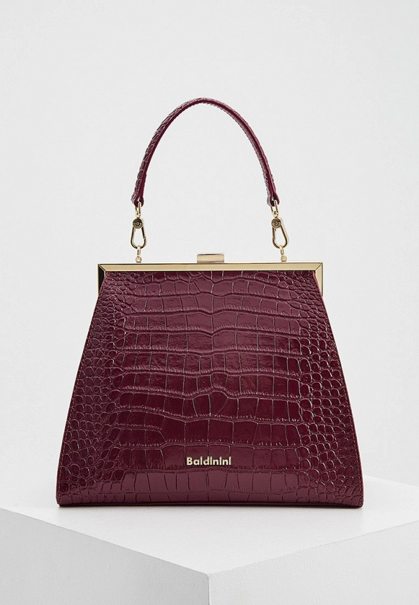 женская сумка baldinini, фиолетовая