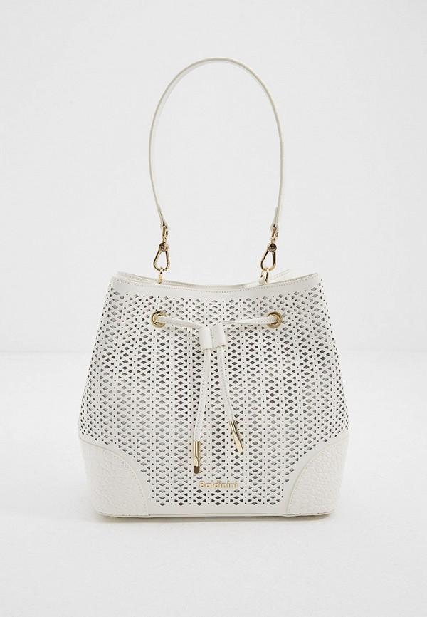женская сумка с ручками baldinini, белая