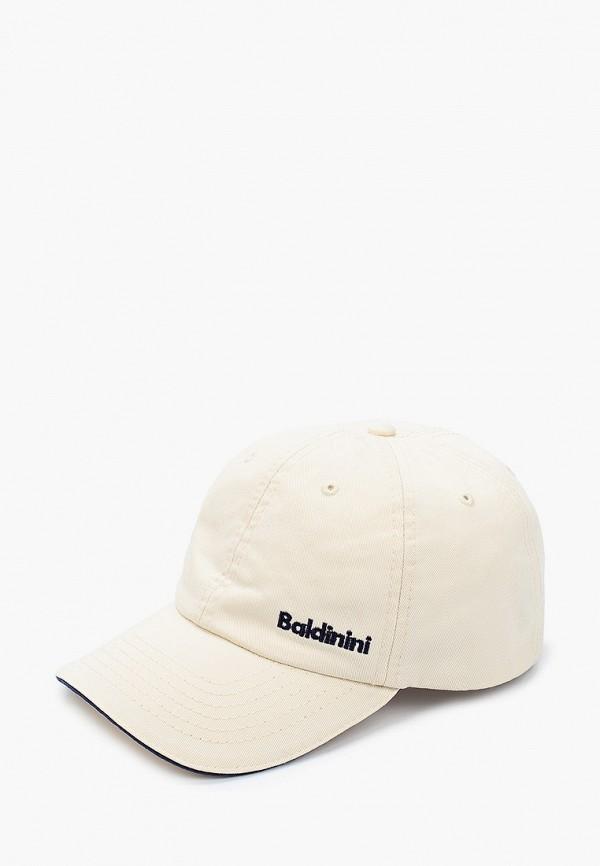 мужская бейсболка baldinini, белая