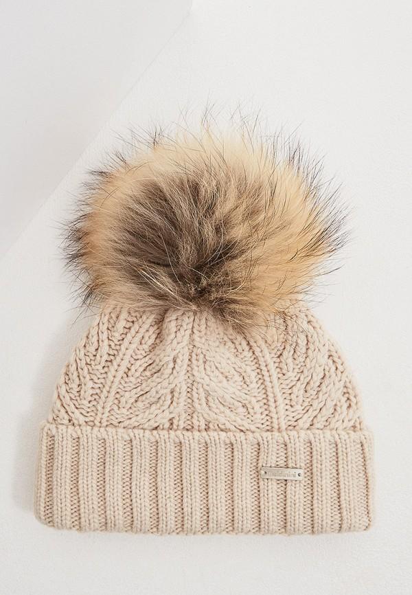 женская шапка baldinini, бежевая