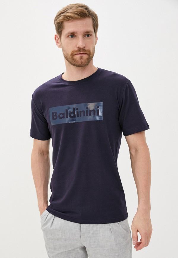 мужская футболка baldinini, синяя