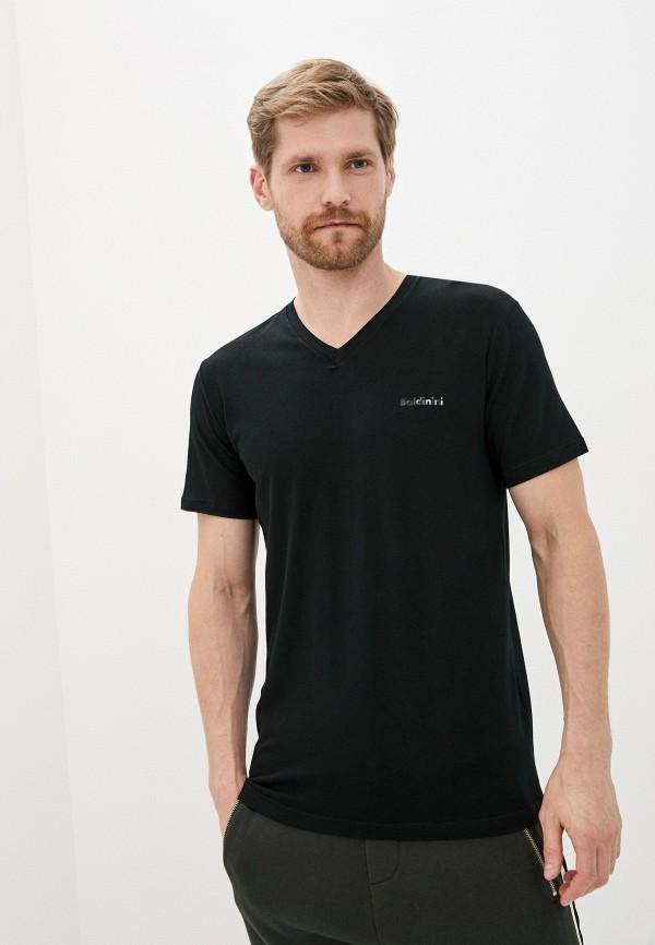мужская футболка с коротким рукавом baldinini, черная