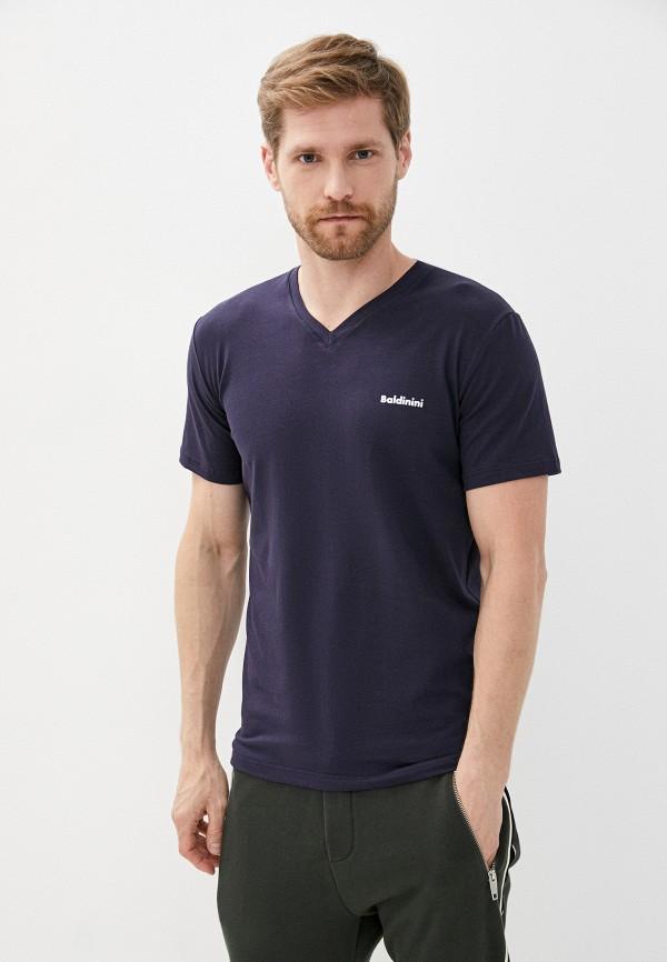 мужская футболка с коротким рукавом baldinini, синяя