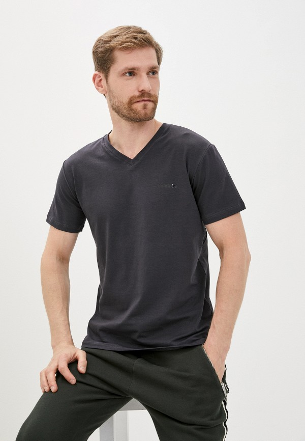 мужская футболка с коротким рукавом baldinini, серая