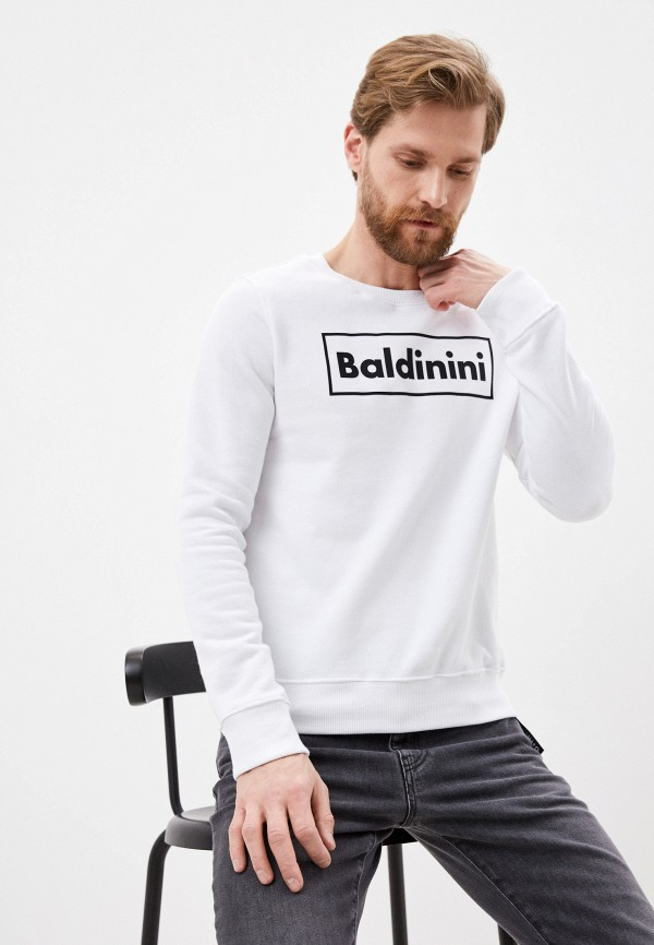 мужской свитшот baldinini, белый