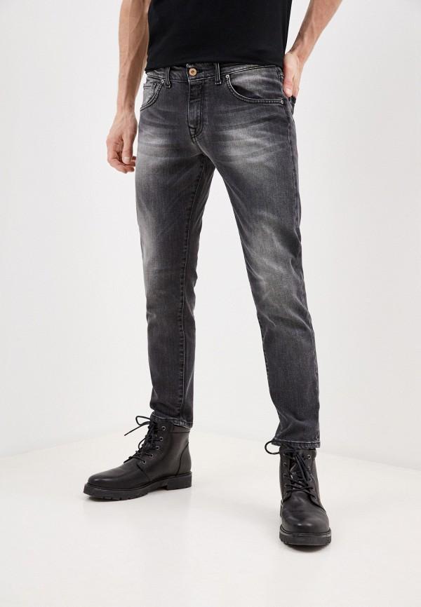 мужские зауженные джинсы baldinini, серебряные