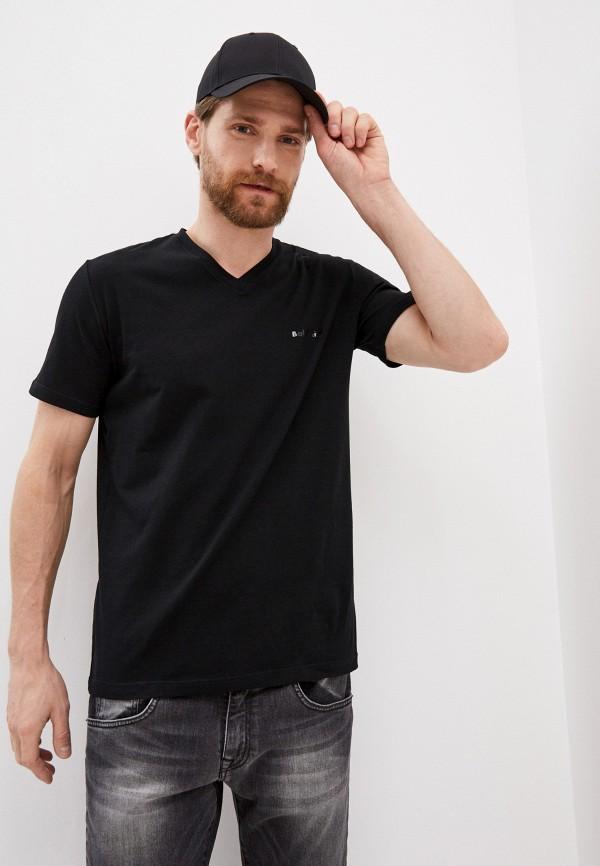 мужская футболка baldinini, черная
