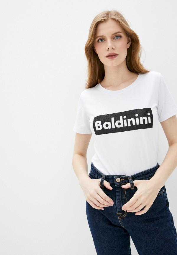 женская футболка baldinini, белая