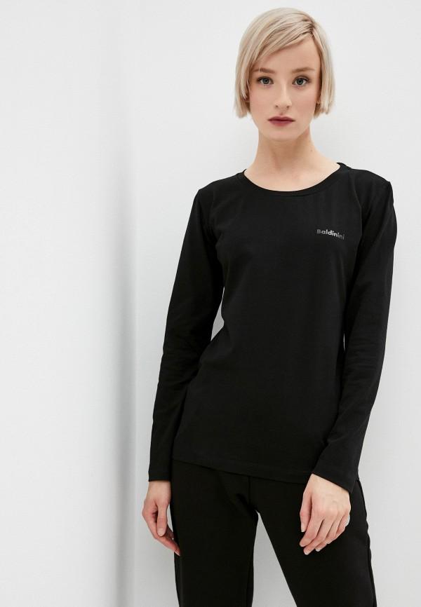 женский лонгслив baldinini, черный