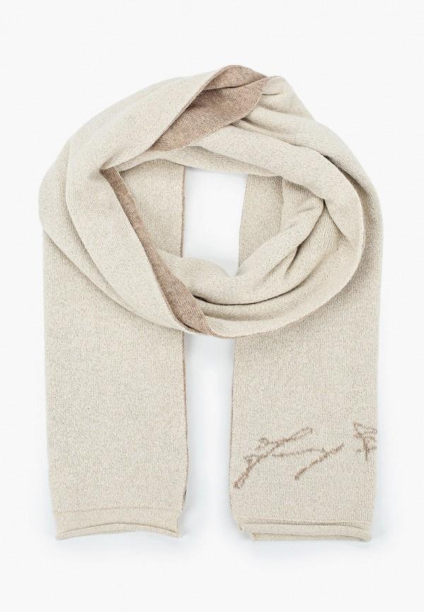 женский шарф baldinini, бежевый