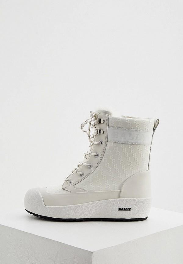 женские ботинки bally, белые