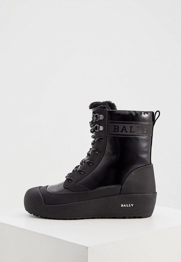 женские ботинки bally, черные