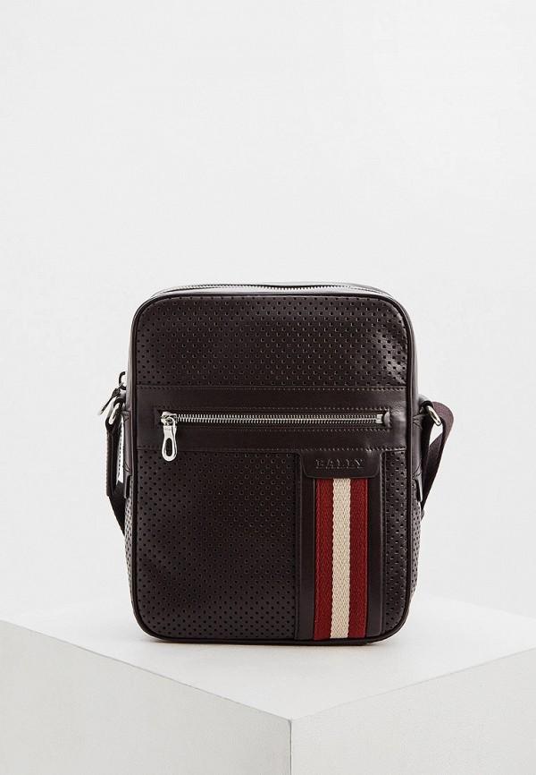 мужская сумка через плечо bally, коричневая