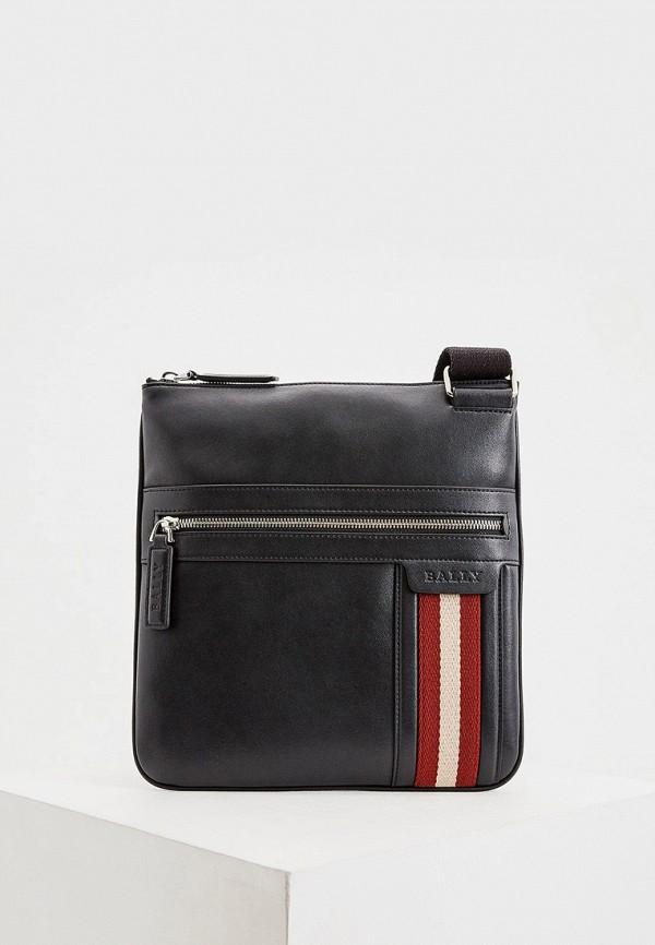 мужская сумка с ручками bally, черная